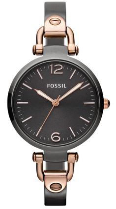 Fossil Watches - Georgia Rose Gold And Grey Ladies Watch Mvmt Watches, Fossil Watches, Gold Watches, Best Watches For Men, Trendy Watches, Stainless Steel Bracelet, Fashion Watches, Rose Gold, Luxury Watches