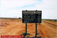 Road sign showing distances along an Outback track in South Australia South Australia, Western Australia, Australia Travel, Australian Road Trip, Kakadu National Park, Safe Journey, Beach Signs, Great Barrier Reef, Beautiful Beaches