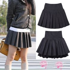 """Material:cotton    Color:dark+grey,black,    Size:free+size  Skirt+length:38cm/14.82"""",  Waist:60cm-80cm/23.4""""-31.2"""",  (tip:1mm=0.039inch)    Visiting+Store:  Http://cuteharajuku.storenvy.com    Find+more+cute+fashion+things,+some+suit+for+you!"""