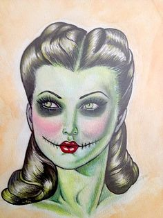 Zombie PinUp by MissCaras on Etsy, $80.00
