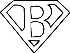 Add your own letter.... Inspired by Superman's logo