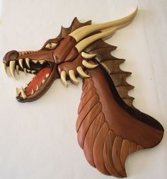 PATTERN ONLY of 'Dragon Fierce' Intarsia                                                                                                                                                                                 More