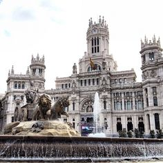 """See 3611 photos and 214 tips from 23386 visitors to Plaza de Cibeles. """"This plaza houses one of Madrid's emblems, the Fountain of Cibeles. Madrid, Travel Memories, Plaza, Four Square, Notre Dame, Places Ive Been, Fountain, The Neighbourhood, Building"""