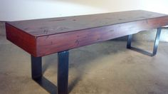 Rustic & Industrial Entryway Bench with Solid Wood by ironlandon, $245.00