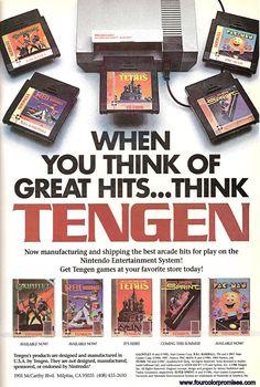 Tengen NES advert – http://www.megalextoria.com/wordpress/index.php/2013/10/14/tengen-nes-advert/ #gaming #ads