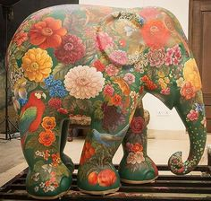 The Elephant Parade is an open-air exhibition by the charity @elephantfamily that works to raise awareness for the Asian Elephant. This year the Parade marches to India and some of the leading faces in the worlds of art fashion and design did their bit fo