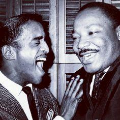 Sammy Davis Jr. & Martin Luther King Jr. #Legends #TheyChangeTheWorld #BlackExcellence