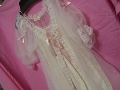 SALE Take Add'l 20% OFF Bridal Honeymoon White Peignoir Set Long Robe and Night Gown Negligee Romantic Ruffles Ribbons and Lace