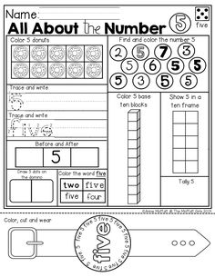 Numbers 1-20 with a WEARABLE Watch! So many different activities on one page to help learn about each number!