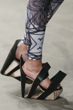 Leather and Birch Wood Heels   Baiba Ladiga   Shop   NOT JUST A LABEL