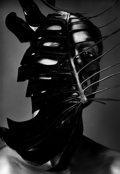 Whiskas black leather mask. Gratefully repinned by RokStarroad.com
