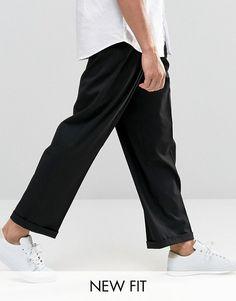 ASOS   ASOS Wide Leg Smart Trousers In Black