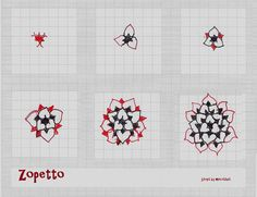 Zopetto-Tangle Pattern by molossus, who says Life Imitates Doodles, via Flickr