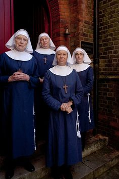 Judy Parfitt, Pam Ferris, Jenny Agutter and Laura Main, stars in Call the Midwife, 2012