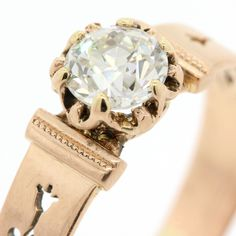 Victorian Old Cut Diamond & Gold Lady's Ring
