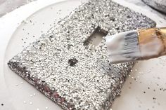 How to Make a Glitter Light Switch Cover Plate | eHow