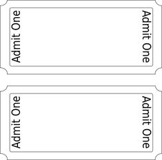 train ticket template word - blank printable admit one invitations coolest free