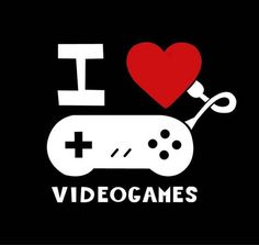 I love video games logo #retrogaming #retrogames #8bit #16bit #8bitevolution #nintendo #nerdstuff #poster