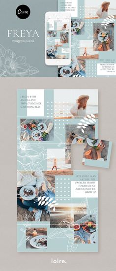 Ideas one with nature quotes posts Instagram Design, Canva Instagram, Instagram Feed Layout, Feeds Instagram, Instagram Grid, Instagram Post Template, Instagram Posts, Web Design, Grid Design