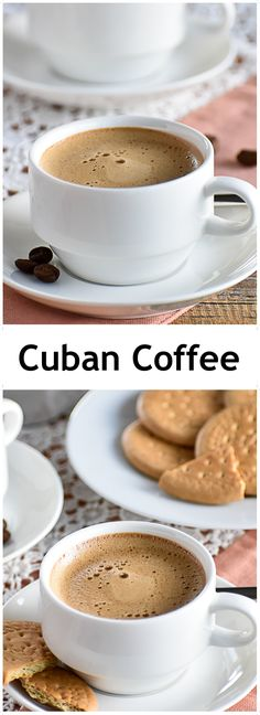 hot coffee Cuban Coffee is dark, rich, and sweet with a deliciously creamy foamy layer on top. Learn how to make it with this easy tutorial. Coffee Tasting, Coffee Cafe, Coffee Drinks, Coffee Shop, Espresso Coffee, Cuban Recipes, Milk Recipes, Coffee Recipes, Coffee Uses
