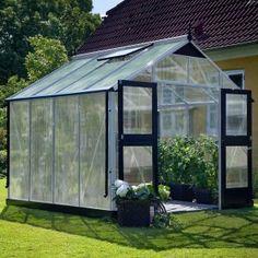 Juliana Premium Greenhouse x x m, polycarbonate, glass thickness: 10 mm, silver / black) - Modern