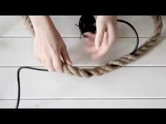 DIY ROPE LAMP // TUTORIAL - YouTube
