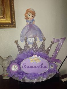 Sofia the first centerpiece girls first birthday