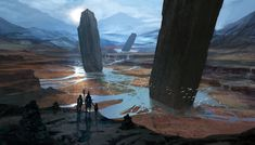 FEATURED ARTIST: Ward Lindhout. Pillars of the Gods > Hugely impressive #concept #art