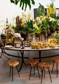 Christmas Styling with Plants & Flowers! Winter Wonderland with Natural Materials in the Colours Green & Yellow and #Christmas Decoration by The Wunderkammer! Perscentrum Wonen
