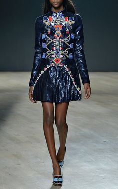 Directopios Embroidered Dress by Mary Katrantzou for Preorder on Moda Operandi