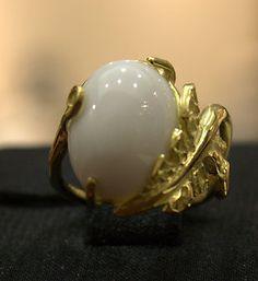 Luigi Quaglia, Etruscan hammered Gold ring...