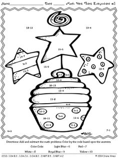 Math Here, Math There, Math Everywhere: ~ Math Printables Color By The Code Puzzles To Practice Addition And Subtraction Math Skills~This Unit Is Aligned To The CCSS. Each Page Has The Specific CCSS Listed. ~ 4 Addition and Subtraction Math Puzzles. This unit would be a great addition to your Dr. Seuss Unit or theme day. $