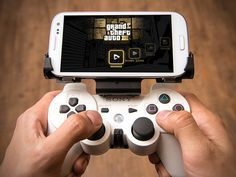 GameKlip™ hooks your smartphone to your PS3 controller for phone gaming
