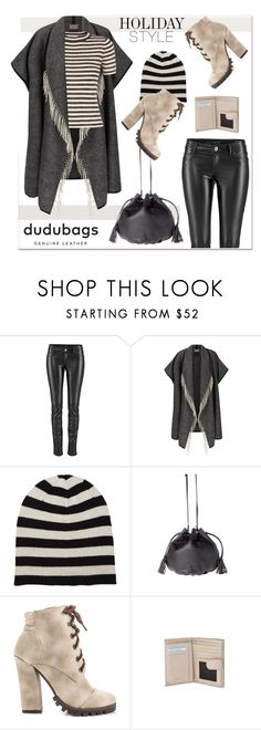 """""""stripes and fringes"""" by paculi ❤ liked on Polyvore featuring Portolano, Michael Antonio, Sandro, Leather and dudubags"""