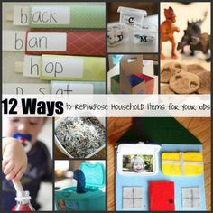 12 Ways to Repurpose Everyday, Household Items to make something fabulous with/for your kids!