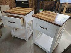 Farmhouse bedside table #farmland_furniture http://www.ana-white.com/2013/05/plans/mini-farmhouse-bedside-table-plans