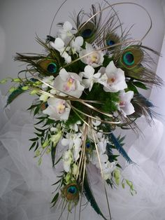 pinterest peacock wedding | peacock wedding / peacock bouquet ideas