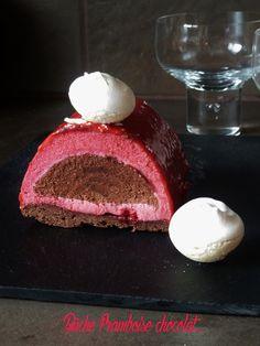 Bûche framboise-chocolat