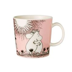 The Love mug Moomin with Moomin and Snorkmaiden is a romantic depiction of two…