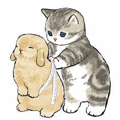 Dibujos Cute, Cute Animal Drawings, Kawaii Art, Cat Drawing, Cute Baby Animals, Cat Art, Cute Cartoon, Cute Wallpapers, Art Inspo