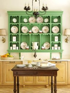 green painted china hutch - Google Search