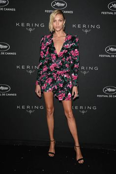 Anja Rubik attends the Women in Motion Awards Dinner presented by Kering and the Cannes Film Festival at Place de la Castre on May 13 2018 in. Cute Summer Dresses, Nice Dresses, Victoria Models, Denim Fashion, Womens Fashion, Anja Rubik, Cannes Film Festival, Celebrity Dresses, Beautiful Legs
