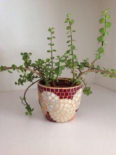 Cache-pot+en+mosaïque+pour+plantes.+par+ImagineMosaic+sur+Etsy