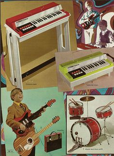 1970 Montgomery Ward Christmas Catalog my parents got the drum set for my sister. They soon regretted it!!   LOL