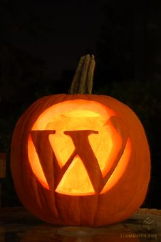monogram your pumpkin