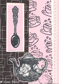 @ Joan Petty  -  Imagine this cute design using the Welsh Love Spoon rubber stamps - I'm going to try it.