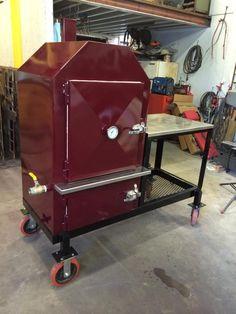 El-Rey Custom Bbq Smokers, Custom Bbq Pits, Bbq Grill, Grilling, Smoker Designs, Barrel Smoker, Grill Design, Smokehouse, Cast Iron Cookware