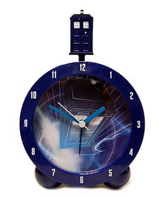 This Doctor Who TARDIS Alarm Clock by Doctor Who is perfect! #zulilyfinds Vegetarian Humor, Bedside Clock, Doctor Who Tardis, Stainless Steel Water Bottle, Funny Mugs, Alarm Clock, Coffee Mugs, Great Gifts, Birthday Gifts