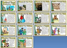 History KS2 Resources Medieval Life posters for classroom display Resource to teach children about the Midd Classroom displays Life poster Teaching kids