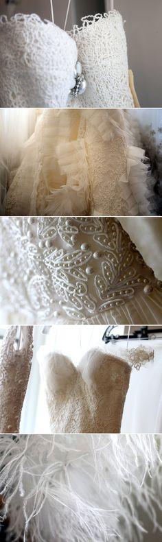 Más Oscar de la Renta Bridal collection 2013!